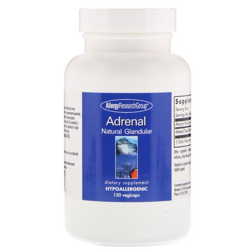 Allergy Research Group, Adrenal Natural Glandular, 150 Vegicaps Review