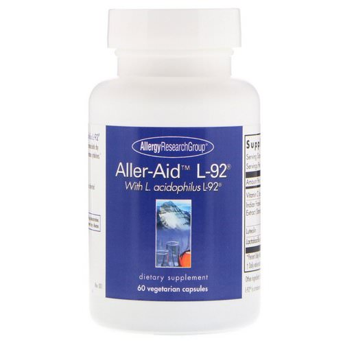 Allergy Research Group, Aller-Aid L-92 with L. Acidophilus L-92, 60 Vegetarian Capsules Review