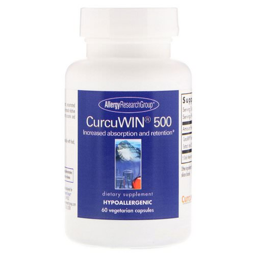 Allergy Research Group, CurcuWin 500, 60 Vegetarian Capsules Review