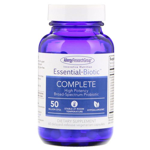 Allergy Research Group, Essential-Biotic Complete, 50 Billion CFU's, 60 Delayed-Release Vegetarian Capsules Review