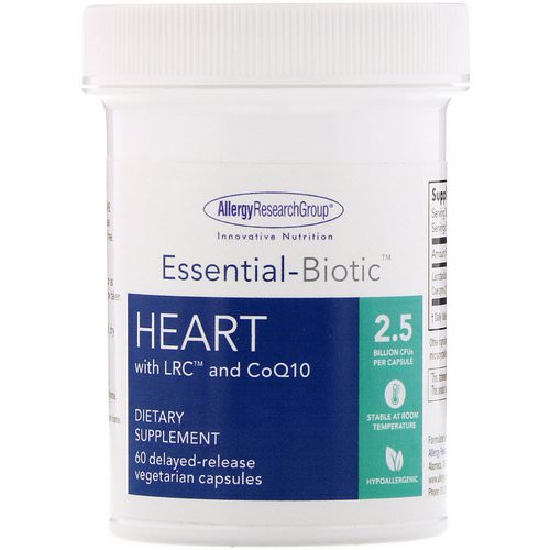 Allergy Research Group, Essential-Biotic, Heart with LRC and CoQ10, 2.5 Billion CFU, 60 Delayed-Release Vegetarian Capsules Review