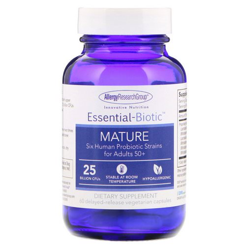 Allergy Research Group, Essential-Biotic, Mature, 25 Billion CFU's, 60 Delayed-Release Vegetarian Capsules Review
