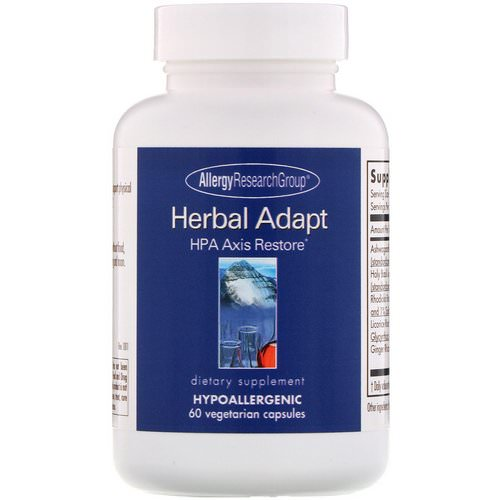 Allergy Research Group, Herbal Adapt, HPA Axis Restore, 60 Vegetarian Capsules Review