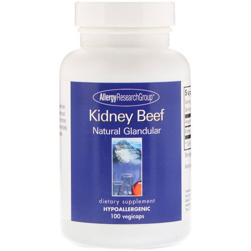 Allergy Research Group, Kidney Beef, Natural Glandular, 100 Vegicaps Review