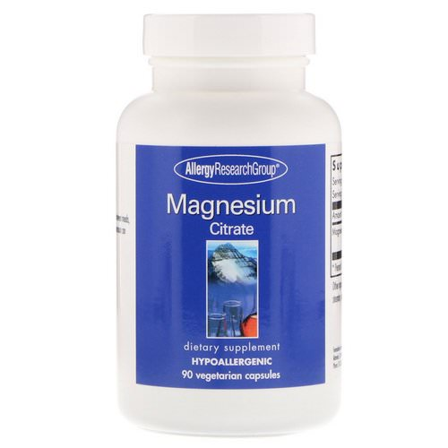 Allergy Research Group, Magnesium Citrate, 90 Vegetarian Capsules Review