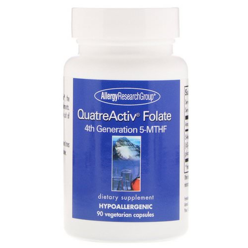 Allergy Research Group, QuatreActiv Folate, 4th Generation 5-MTHF, 90 Vegetarian Capsules Review