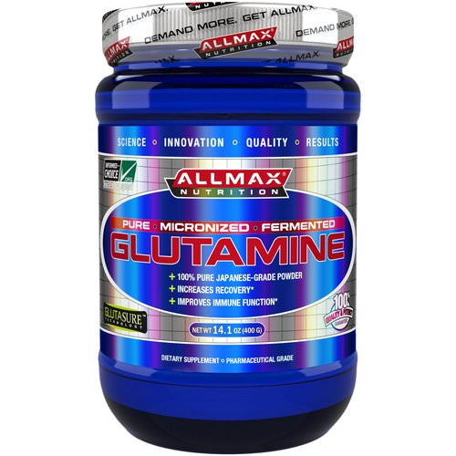 ALLMAX Nutrition, 100% Pure Micronized Glutamine, Gluten-Free + Vegan + Kosher Certified, 14.1 oz (400 g) Review