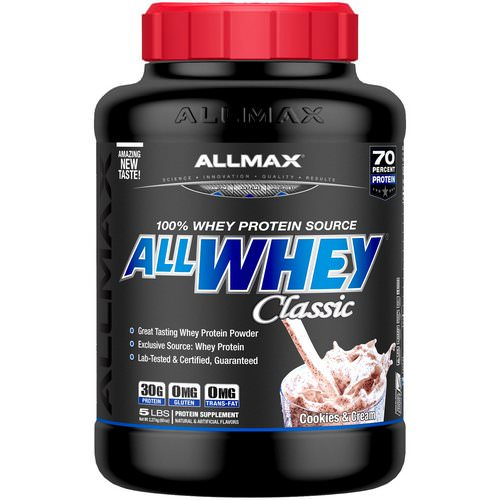 ALLMAX Nutrition, AllWhey Classic, 100% Whey Protein, Cookies & Cream, 5 lbs. (2.27 kg) Review