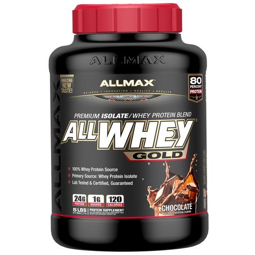 ALLMAX Nutrition, AllWhey Gold, 100% Whey Protein + Premium Whey Protein Isolate, Chocolate, 5 lbs. (2.27 kg) Review