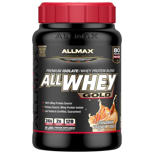 ALLMAX Nutrition, AllWhey Gold, 100% Whey Protein + Premium Whey Protein Isolate, Cinnamon French Toast, 2 lbs (907 g) Review