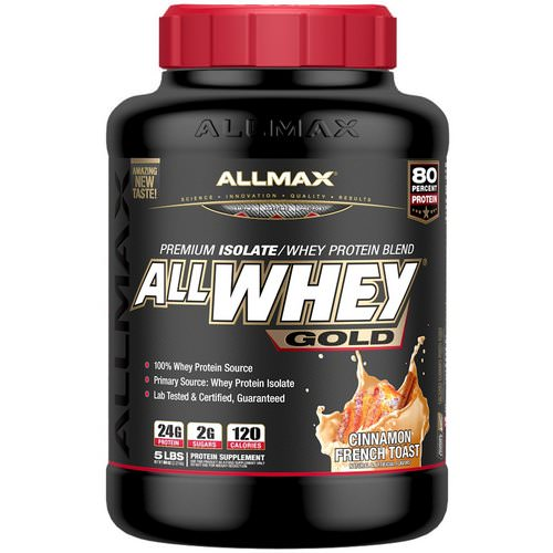 ALLMAX Nutrition, AllWhey Gold, 100% Whey Protein + Premium Whey Protein Isolate, Cinnamon French Toast, 5 lbs. (2.27 kg) Review
