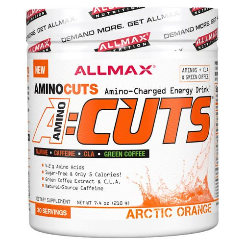 ALLMAX Nutrition, AMINOCUTS (ACUTS), Weight-Loss BCAA (CLA + Taurine + Green Coffee), Arctic Orange, 7.4 oz (210 g) Review