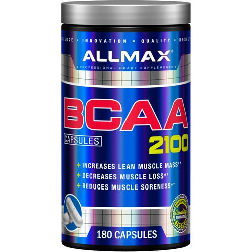 ALLMAX Nutrition, BCAA 2100, 180 Capsules Review