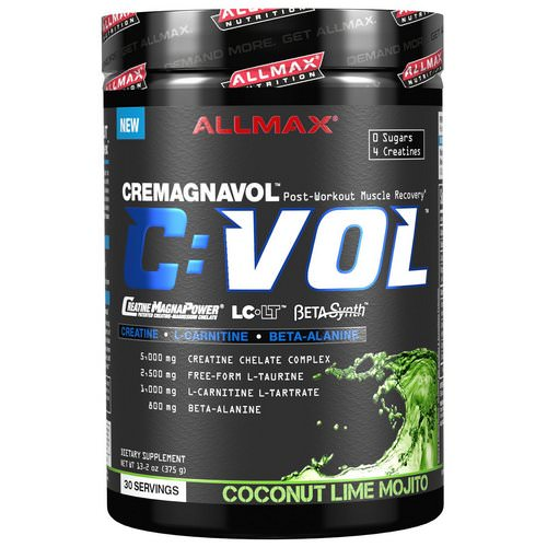 ALLMAX Nutrition, C:VOL, Professional-Grade Creatine + Taurine + L-Carnitine Complex, Coconut Lime Mojito, 13.2 oz (375 g) Review