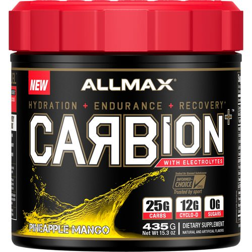 ALLMAX Nutrition, CARBion+ with Electrolytes + Hydration, Gluten-Free + Vegan Certified, Pineapple Mango, 15.3 oz (435 g) Review