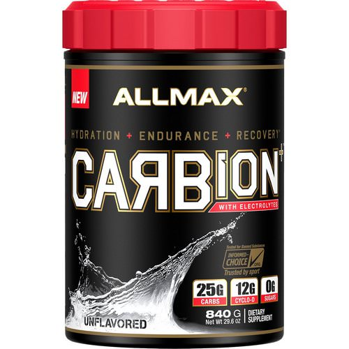 ALLMAX Nutrition, CARBion+ with Electrolytes + Hydration, Gluten-Free + Vegan Certified, Unflavored, 1.85 lbs (840 g) Review