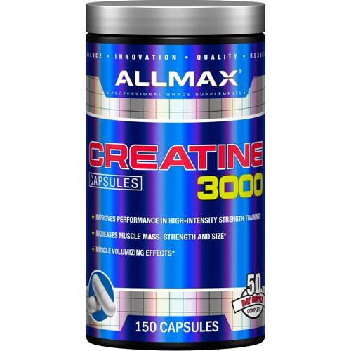 ALLMAX Nutrition, Creatine 3000mg, 150 Capsules Review