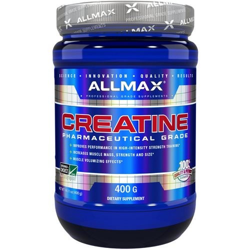 ALLMAX Nutrition, Creatine Powder, 100% Pure Micronized Creatine Monohydrate, Pharmaceutical Grade Creatine, 14.11 oz (400 g) Review