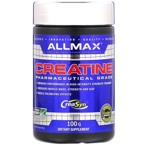 ALLMAX Nutrition, Creatine, Pharmaceutical Grade, 3.53 oz (100 g) Review