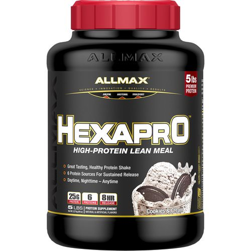 ALLMAX Nutrition, Hexapro, High-Protein Lean Meal, Cookies & Cream, 5 lbs (2.27 kg) Review
