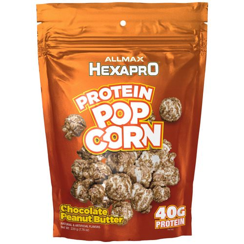 ALLMAX Nutrition, Hexapro, Protein Popcorn, 40G Protein, Chocolate Peanut Butter, 7.76 oz (220 g) Review