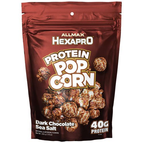 ALLMAX Nutrition, Hexapro, Protein Popcorn, 40G Protein, Dark Chocolate Sea Salt, 7.76 oz (220 g) Review