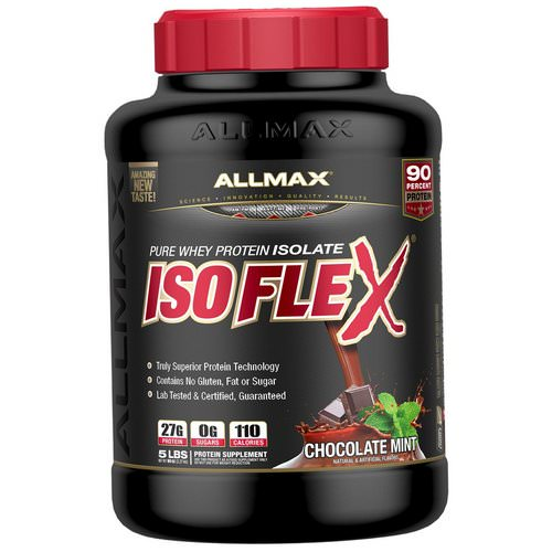 ALLMAX Nutrition, Isoflex, Pure Whey Protein Isolate (WPI Ion-Charged Particle Filtration), Chocolate Mint, 5 lbs (2.27 kg) Review