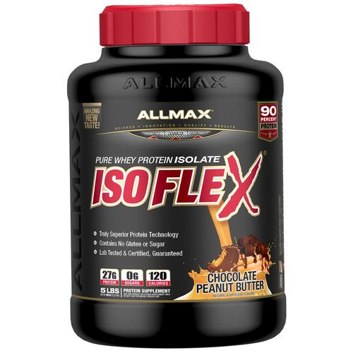 ALLMAX Nutrition, Isoflex, Pure Whey Protein Isolate (WPI Ion-Charged Particle Filtration), Chocolate Peanut Butter, 5 lbs (2.27 kg) Review