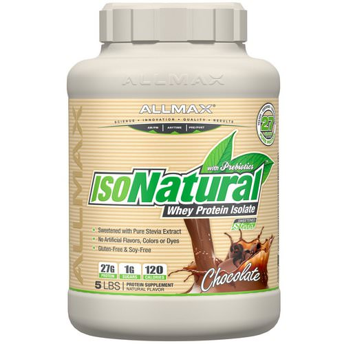ALLMAX Nutrition, IsoNatural, Pure Whey Protein Isolate, Chocolate, 5 lbs Review