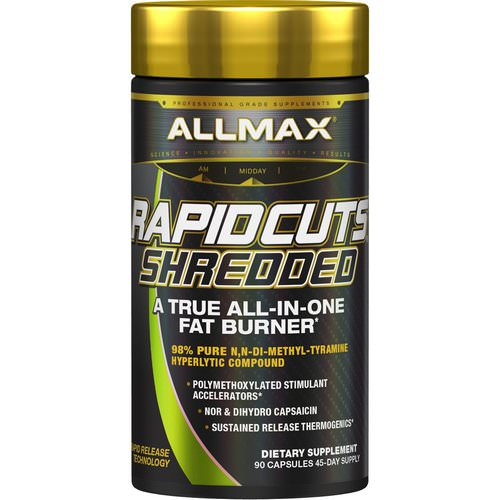 ALLMAX Nutrition, Rapidcuts Shredded, A True All-In-One Fat Burner, 90 Capsules Review