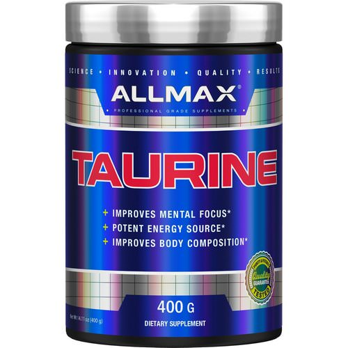 ALLMAX Nutrition, Taurine, Unflavored, Vegan + Gluten-Free, 3,000 mg, 14.11 oz (400 g) Review