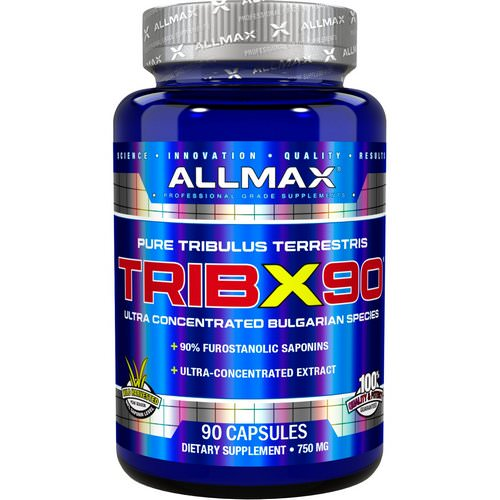 ALLMAX Nutrition, TribX90, Ultra-Concentrated Bulgarian Tribulus, 90% Furostanolic Saponins, 750 mg, 90 Capsules Review