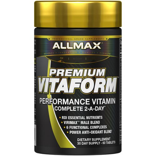 ALLMAX Nutrition, Vitaform, Premium MultiVitamin For Men, 60 Tablets Review