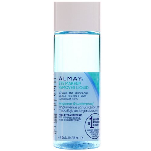 Almay, Longwear & Waterproof Eye Makeup Remover Liquid, 4 fl oz (118 ml) Review