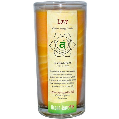 Aloha Bay, Chakra Energy Candle, Love (Svadhi - shthana), 11 oz Review