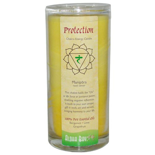 Aloha Bay, Chakra Energy Candle, Protection, Yellow, 11 oz, 1 Candle Review