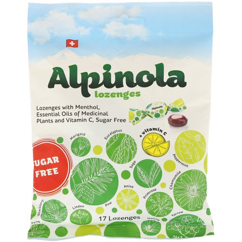 Alpinola, Lozenges with Menthol, Essential Oils and Vitamin C, Sugar Free, 17 Lozenges Review