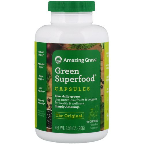 Amazing Grass, Green Superfood, 150 Capsules Review