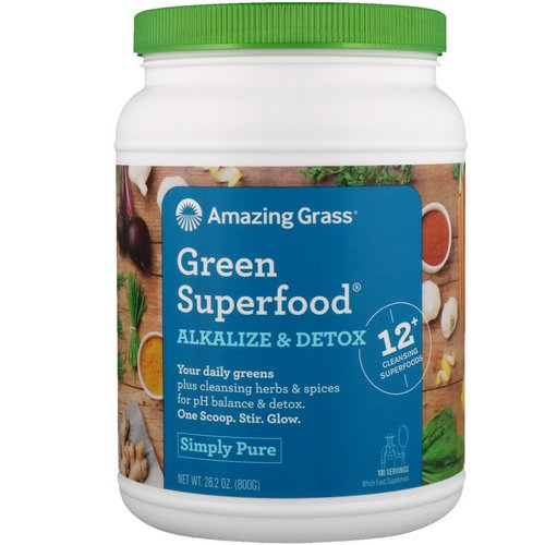 Amazing Grass, Green Superfood, Alkalize & Detox, 1.8 lbs (800 g) Review