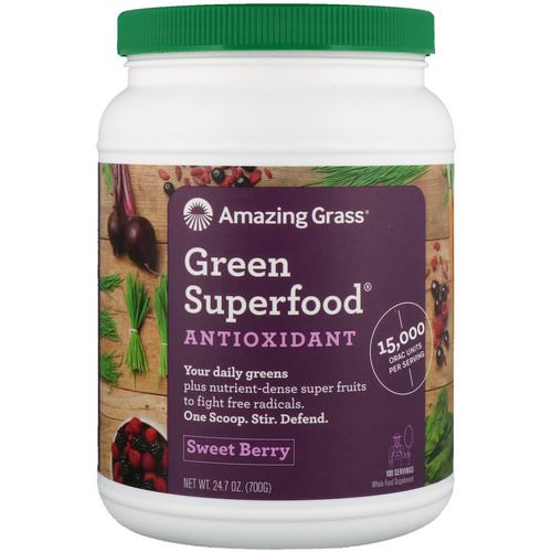 Amazing Grass, Green Superfood, Antioxidant, Sweet Berry, 1.5 lbs (700 g) Review
