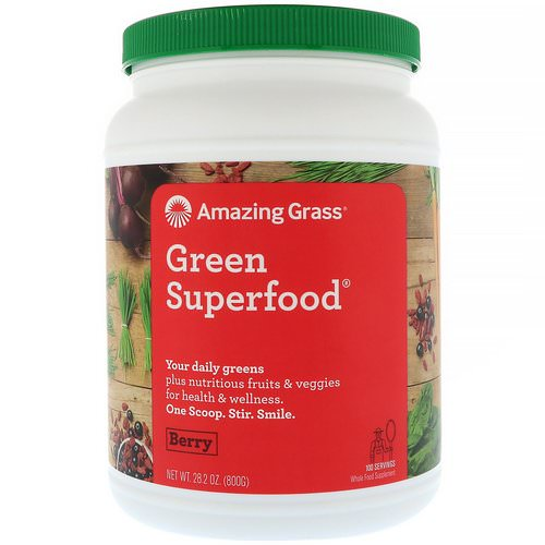 Amazing Grass, Green Superfood, Berry, 1.7 lbs (800 g) Review