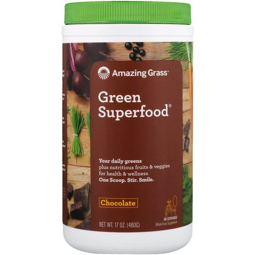 Amazing Grass, Green Superfood, Chocolate, 17 oz (480 g) Review