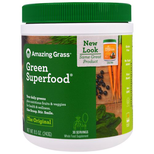 Amazing Grass, Green Superfood, The Original, 8.5 oz (240 g) Review