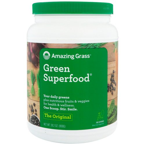 Amazing Grass, Green Superfood, The Original, 1.7 lbs (800 g) Review