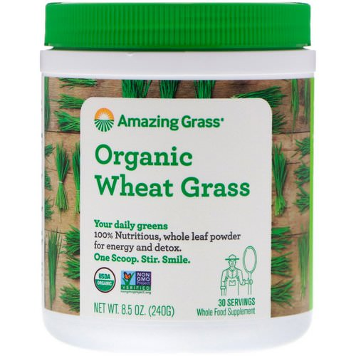 Amazing Grass, Organic Wheat Grass, 8.5 oz (240 g) Review