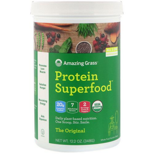 Amazing Grass, Protein Superfood, The Original, 12.2 oz (348 g) Review