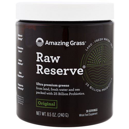 Amazing Grass, Raw Reserve, Ultra Premium Greens, Original, 8.5 oz (240 g) Review