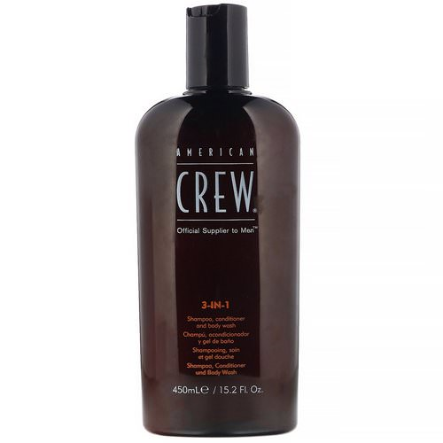 American Crew, 3-In-1 Shampoo, Conditioner, Body Wash, 15.2 fl oz (450 ml) Review