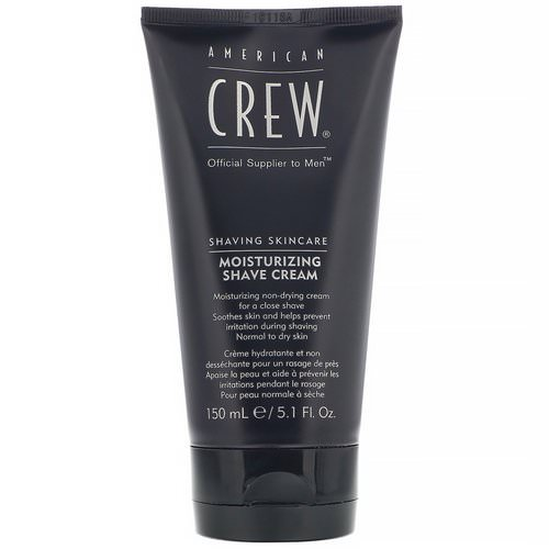 American Crew, Shaving Skincare, Moisturizing, Shave Cream, 5.1 fl oz (150 ml) Review