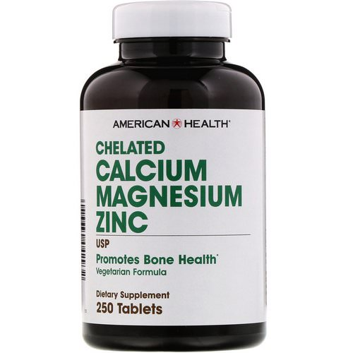 American Health, Chelated Calcium Magnesium Zinc, 250 Tablets Review